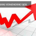 Внимание изменение цен